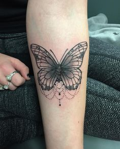 Love this #butterfly #tattoo YET needs some color tho!!