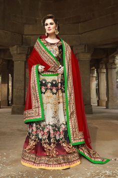 Digital Print Wedding Wear  Lehenga Choli