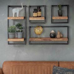 kitchen ideas – New Ideas Loft Furniture, Steel Furniture, Modern Furniture, Wall Shelving Units, Wall Shelves, Delft, Happy New Home, Wood Bookshelves, Hanging Racks