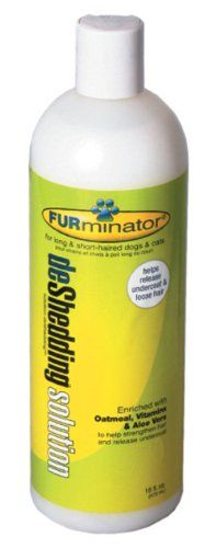 FURminator deShedding Solution for Dogs and Cats 16 Ounces -- You can find more details by visiting the image link.(This is an Amazon affiliate link and I receive a commission for the sales)
