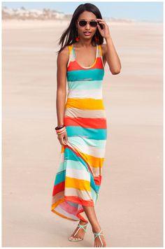 stripes for summer.. maxi dress