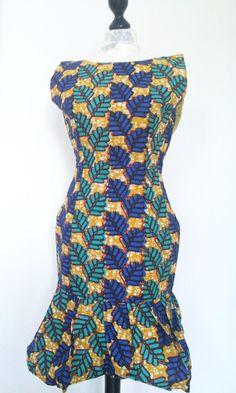 Bunt Afrikanische wax Print sommer Kleid von Urban-Apparel auf DaWanda.com
