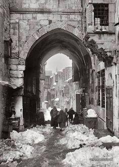 ثلوج، القدس، فلسطين ١٩٢١ Snow, Jerusalem, Palestine 1921 Nieve, Jerusalén, Palestina 1921