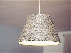 DIY-Anleitung: Lampenschirm individuell gestalten mit Pailletten via DaWanda.com