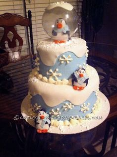 Coolest Winter ONEderland Birthday Cake... This website is the Pinterest of birthday cake ideas