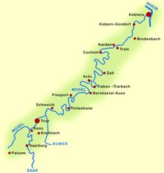 Moezel kaart Cycling Workout, Wanderlust, Bike Trails, Road Trip, Places To Visit, Germany, Camping, Map, Tours