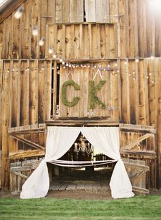 Wedding Greens: initials