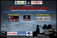 6-7 Sept 2013: WOT Scooter Rally, Derbyshire