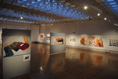 exhibition view Wall Canvas, Paper