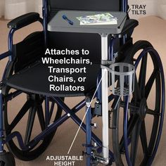 Mobility Table for Wheelchair - Mobility and Accessories - Aids for Daily Living and Mobility - Easy Comforts Transport Chair, Disability Help, Wheelchair Accessories, Adaptive Equipment, Mobility Aids, Aging In Place, Making Life Easier, Assistive Technology, Elderly Care