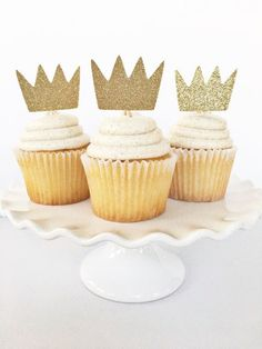 Where The Wild Things Are Gold Crown Cupcake by PopOfSparkle