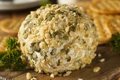Get the party started with this cheesy crowd-pleaser! This Homemade Cheeseball with Nuts and Crackers is tasty and healthy.