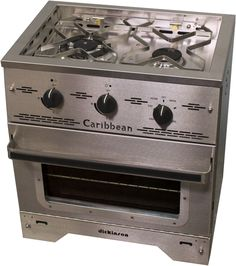 "The Caribbean Two Burner Propane Stove has a heavy duty stainless steel construction with an efficient, powerful 'Triple style' 11,000 and a 7,000 BTU burner, all equipped with safety 'flame-out' protection. Comes with safe push and turn electronic ignition. A propane hose, 11"" WC regulator and fittings are needed and sold separately. 100% Stainless Steel …"