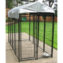 Lucky Dog 6'Hx4'Wx8'L Uptown Welded Wire Kennel - http://www.thepuppy.org/lucky-dog-6hx4wx8l-uptown-welded-wire-kennel/