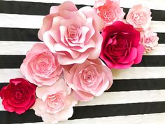 This pretty cool idea of decorating the wall with paper flowers learn how to make diy paper flower rose tutorial looking realistic and beauiful and use in the decoration mightylinksfo