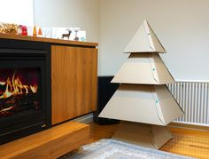 This Cardboard Christmas Tree will look fabulous in your home and it's a wonderful alternative to the traditional tree!