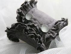 Victorian Linen Cuff Bracelet by Deb Hodge