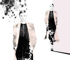 #illustration# #drawing #artwork #pencil #watercolor #fashion illustration / on paper /  gyu-seul Kim (2014) http://blog.naver.com/hanel67