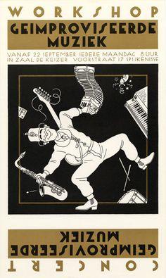 «Geïmproviseerde muziek» by Joost Swarte, 1980