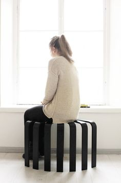Fan stool black. © BEdesign Koti, Modern Furniture, Ottoman, Stool, Fan, Pretty, Design, Black, Home Decor