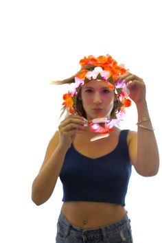 Tropical LED flower crown/floral headband light up by LUMiLtd