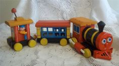 Vintage 1950's Fisher Price Huffy Puffy Train Pull Toy