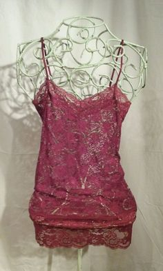 NEW Sz Medium ZENANA OUTFITTERS Wine Red Lace Bodycon Stretch Chemise HOT!!  #ZenanaOutfitters #FullSlips