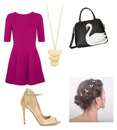 """""""Golden goose"""" by lauren129986 on Polyvore featuring Dolce&Gabbana, Gorjana, Kate Spade and Gianvito Rossi"""