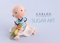carlos lischetti - christening - christening cake topper