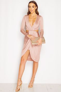 Leona Nude Cut Out Slinky Dress sold by URBANE OUTFITTERS. Shop more products from URBANE OUTFITTERS on Storenvy, the home of independent small businesses all over the world.