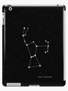 'Orion Constellation' iPad Case/Skin by PrintStopStudio Orion Tattoo, Cloud Tattoo, Constellation Tattoos, Orion's Belt, Star Tattoo Designs, Bottle Wall, Orion Nebula, Lip Designs, Star Tattoos