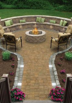 Landscape patio idea