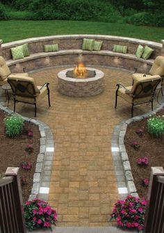 Landscape patio idea