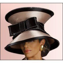 27cfe831e88 Women s Church Hats Elegant Large Taupe Hat with Open Top and Big ...  African