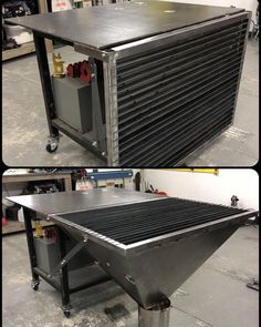 👈🏻 Extremely compact fold out plasma table w/ a Slag funnel to catch the goods attached to a welding table. I've gotta say for Designers. Welding Classes, Welding Shop, Welding Jobs, Welding Art, Welding Bench, Welding Table Diy, Metal Projects, Welding Projects, Welding Ideas