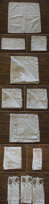 Un truco para presentar los cubiertos en la mesa!