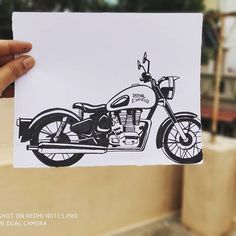 royal enfield new model Abstract Pencil Drawings, Pencil Sketch Drawing, Girl Drawing Sketches, Pen Sketch, Cool Art Drawings, Pencil Sketches Easy, Realistic Drawings, Easy Drawings, Ducati