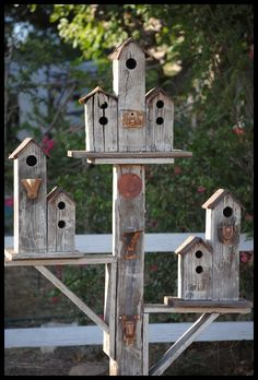 Birdhouses my husband made for our yard #1