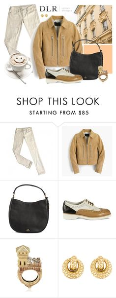 """style"" by sandevapetq ❤ liked on Polyvore featuring Levi's, J.Crew, Coach, Santoni and ALESSANDRO DARI"