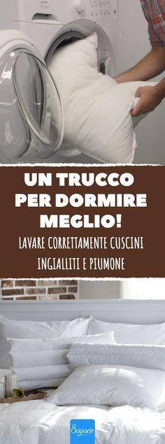 Lavare correttamente cuscini ingialliti e piumone. #lavaggio #biancheria #cuscini #ingialliti #piumone #lavanderia #lavatrice