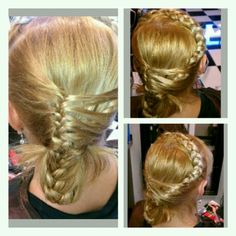 Headband braid with a French braid
