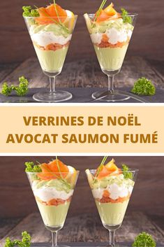Kerstmis verrines avocado met gerookte zalm - Apocalypse Now And Then Cracker Barrel French Toast, Simple Avocado Toast, Homemade French Toast, Appetizer Recipes, Appetizers, Brunch, Food Buffet, Xmas Dinner, Fancy Desserts