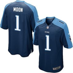 Nike Limited Warren Moon Navy Blue Youth Jersey - Tennessee Titans #1 NFL Alternate