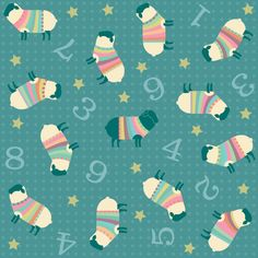 Sheep and Numbers Fabric - Counting Sheep By Pinkowlet - Kids Nursery Animal Bedtime Cotton Fabric By The Metre by Spoonflower Double Gauze Fabric, Cotton Twill Fabric, Fleece Fabric, Cotton Canvas, Sheep Fabric, Counting Sheep, Textiles, Animal Nursery, Burp Cloths