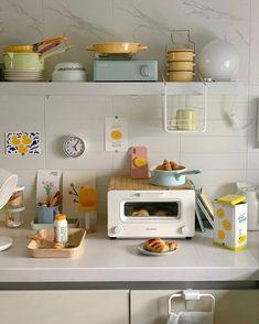 Minimalist Room, Cute Kitchen, Kitchen Cart, Aesthetic Room Decor, Apartment Interior, Studio Apartment, House Rooms, Home Decor Inspiration, Kitchen Design