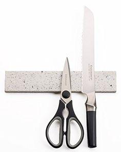 """RSVP Quartz Stone Magnetic Knife Bar - White RSVP http://www.amazon.com/dp/B00LU1C7MW/ref=cm_sw_r_pi_dp_ZzZSub0X79Z8K $27 10""""or bigger"""