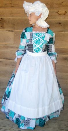 Girls Size 12 Pioneer Dress and Bonnet- Ready to Ship - Kleider ...