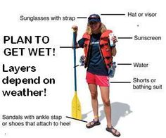 What to wear on your river rafting trip!  Be prepared!