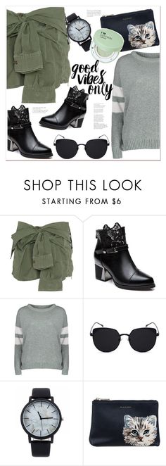 """""""good vibes only"""" by mycherryblossom ❤ liked on Polyvore featuring Faith Connexion, Paul & Joe Sister and Forever 21"""