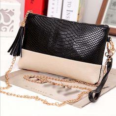 Women Handbag Shoulder Bags Tote Purse Fashion PU Leather Messenger Hobo Bag for sale online Leather Tassel, Leather Clutch, Leather Handbags, Pu Leather, Women's Handbags, Luxury Handbags, Tote Bags, Tote Purse, Hobo Bag